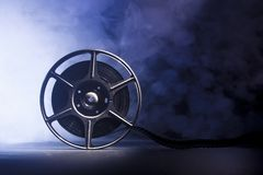 Movie spool with film Royalty Free Stock Photography