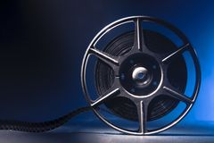 Movie spool with film Royalty Free Stock Photos