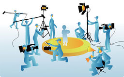 Movie Staffs Stock Photography