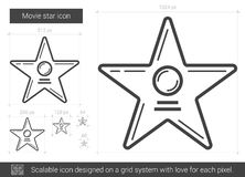 Movie star line icon. Stock Photo