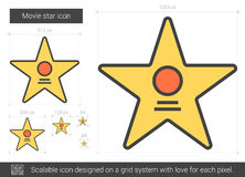 Movie star line icon. Royalty Free Stock Photos