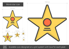 Movie star line icon. Stock Images