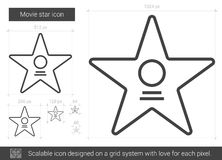 Movie star line icon. Royalty Free Stock Photography