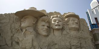 Movie Star Monument at the Wax Museum in Branson, Missouri Royalty Free Stock Photography
