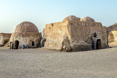 Movie Star Wars in the Sahara desert Stock Images