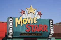 Movie Starr Cinema Logo, Canvey Island, Essex, England Stock Images