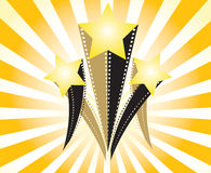 Movie stars . Movie stars on light ray background Royalty Free Stock Images