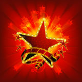 Movie stars, red. Computer illustration, abstract Royalty Free Stock Photos