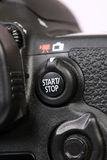 Movie and still selector switch. Beautiful shot of movie and still selector switch on dslr camera Royalty Free Stock Photo