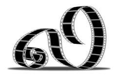 Movie strip. On a white bg Stock Photos