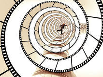 Movie strip spiral Royalty Free Stock Photography