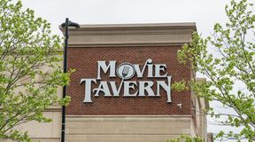 Movie Tavern by Marcus Theatres sign stock photo