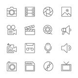 Movie technology icons. Line icon Stock Images