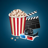 Movie template Royalty Free Stock Image