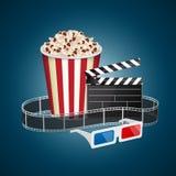 Movie template Royalty Free Stock Photos
