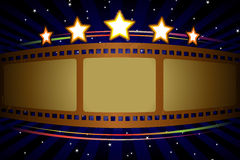 Movie theater background. A  illustration of a movie theater background Stock Photography