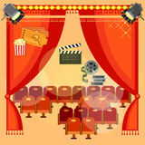 Movie theater cinema festival cinematography Stock Image