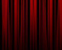 Movie or theater curtain Stock Images