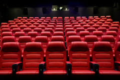 Movie theater empty auditorium with seats Royalty Free Stock Image