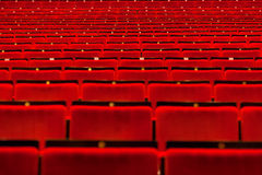 Movie theater empty hall with seats Royalty Free Stock Images