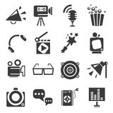 Movie and theater icons. Set of 16 movie and theater icons Stock Image