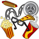 Movie Theater Objects Stock Image