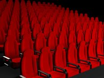 Movie Theater Seats. 3d rendered image Royalty Free Stock Image