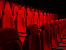 Movie Theater Seats Stock Photo