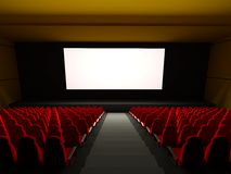 Movie Theater Seats. 3d rendered image Royalty Free Stock Photos