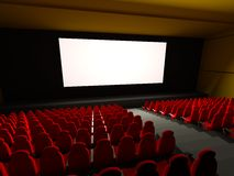 Movie Theater Seats. 3d rendered image Stock Photography