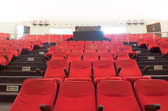 Movie theater seats Royalty Free Stock Photos