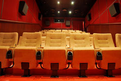 Movie Theater Seats Royalty Free Stock Photography