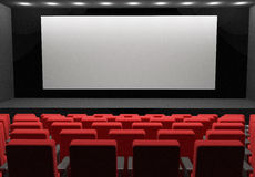 Movie theather concept blank scene. 3d high quality render Stock Photo