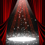 Movie or theatre curtain Stock Images
