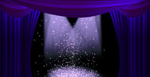 Movie or theatre curtain Royalty Free Stock Photo