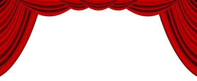 Movie or theatre curtain Stock Photography