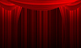 Movie or theatre curtain Royalty Free Stock Images