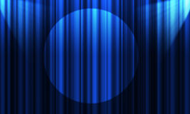 Movie or theatre curtain royalty free illustration