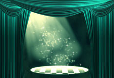 Movie or theatre curtain Royalty Free Stock Photos