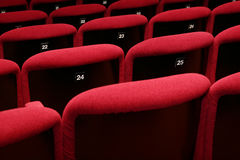 Movie Theatre Empty. Empty Theatre auditorium cinema or conference hall Stock Photography