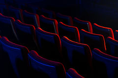 Movie theatre empty seats. Cinema and entertainment concept Royalty Free Stock Images