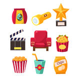 Movie Theatre Related Objects Collection Stock Photo