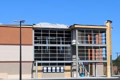 Movie theatre under construction. New multi-plex movie theatre under construction Royalty Free Stock Photo