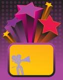 Movie theme. Background, color illustration Stock Image