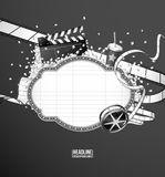 Movie theme composition. Black & White Royalty Free Stock Photo