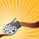 Movie theme element Stock Photo