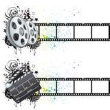 Movie theme element. Film strip,movie theme element Royalty Free Stock Photography
