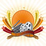 Movie theme element Stock Photography