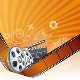 Movie theme element. Film strip,movie theme element Royalty Free Stock Photo