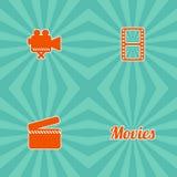 Movie theme icon. Art graphic illustration Stock Image